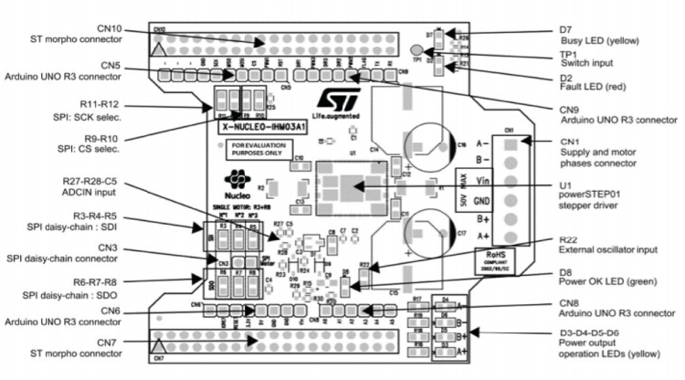 ST X-NUCLEO-IHM03A1 Power STEP01 Stepper Motor Driver