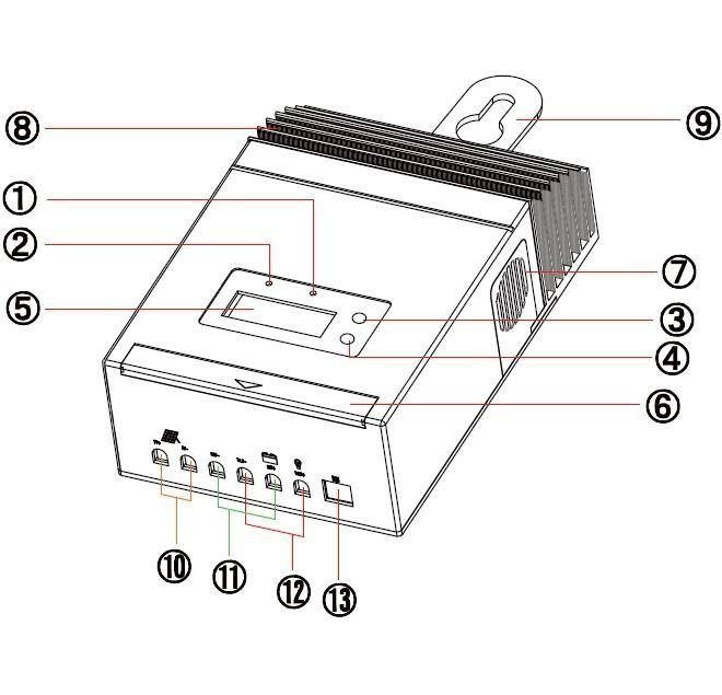 MPPT4515 Solar Charge Controller Regulator 60A 12V 24V 48V