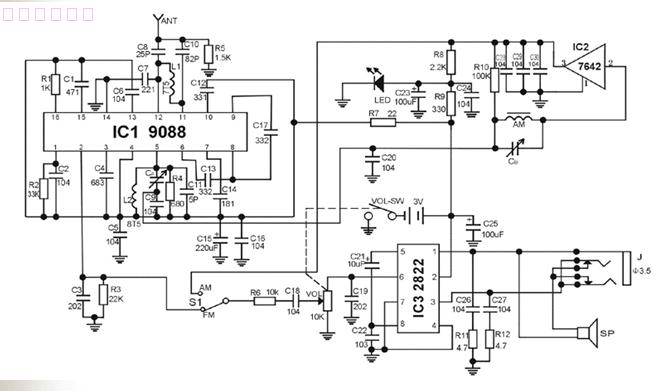 AM FM AM Radio Kit Parts CF210SP Electronic Production
