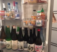 sake in the fridge