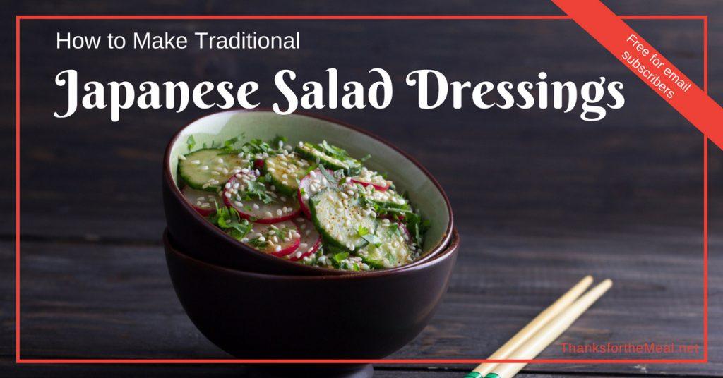 traditonal Japanese salad dressings
