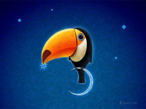Vladstudio Wallpaper - Toucan