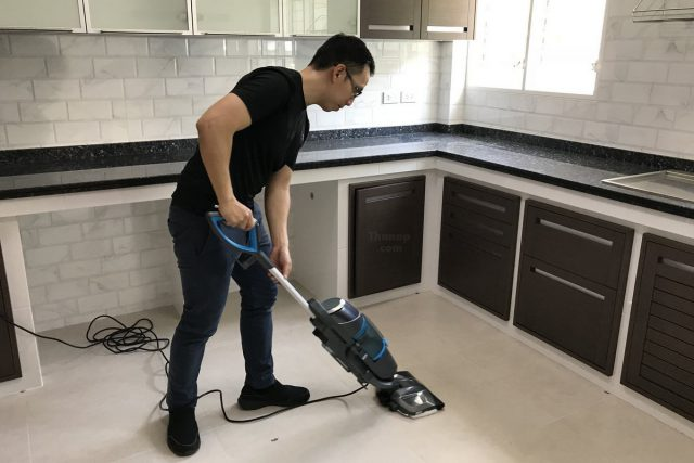 BISSELL Vac and Steam Working with Tile Rough