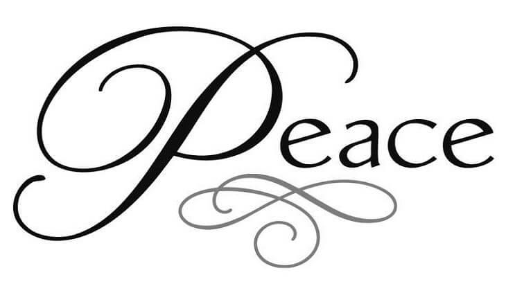 موضوع تعبير عن السلام بالعناصر والافكار
