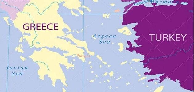 """""""جغرافيا"""" ماهو البحر الذي يفصل بين تركيا واليونان"""