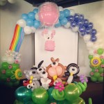 Customised Balloon Arch and Animal Display
