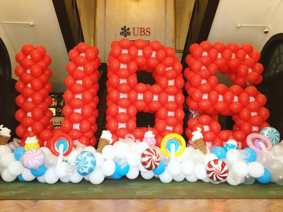 Customised Balloon Letters Backdrop Display