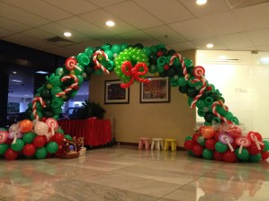 Christmas Candies Balloon Arch
