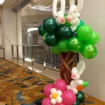 Balloon Rabbit on Tree