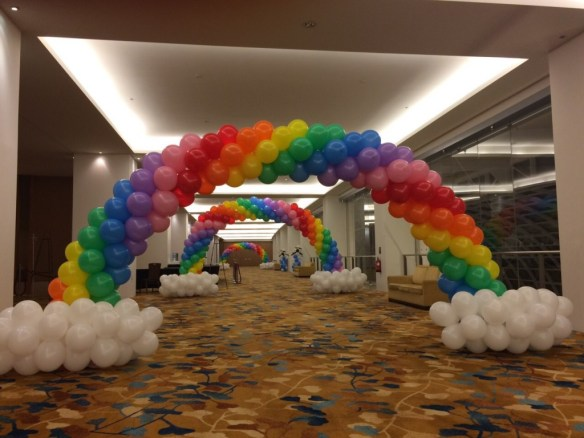 Balloon Rainbow Cloud Arch