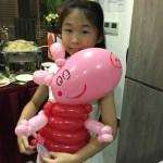Balloon Peppa Pig Sculpture