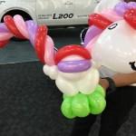 Balloon Rainbow Horse Sculpture