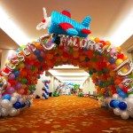 Rainbow Balloon Tunnel Decoration