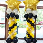 Gold Star Balloon Columns Decorations