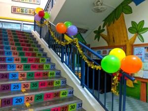 Stairs Balloon Decor