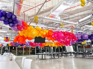 Organic Ceiling Balloon Decorations