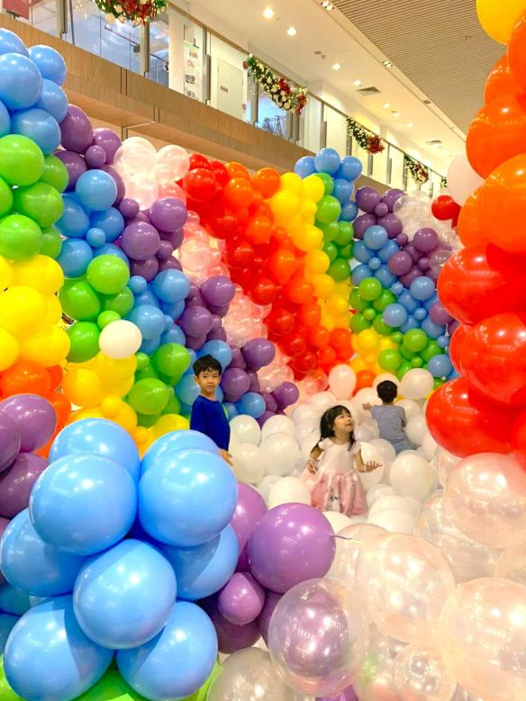 Rainbow Balloon Pit in Singapore