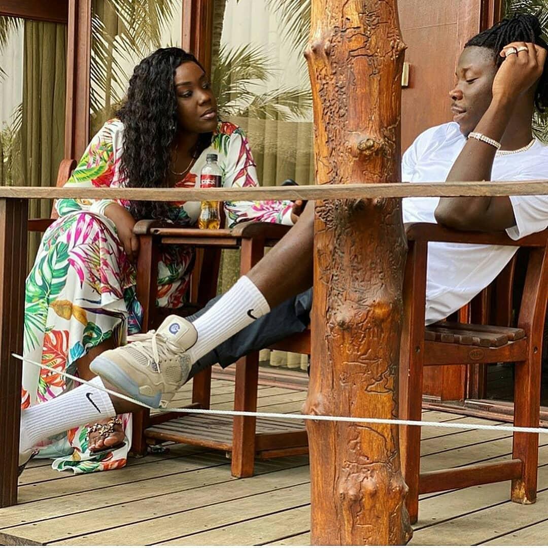 Stonebwoy and wife Wife At Aqua Safari Resort