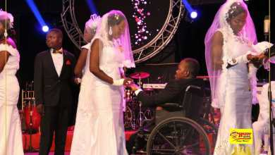 Christian Salvo and his wife Roseta Amoah, now Mr. And Mrs. Salvo, had the audience awestruck as the groom's case of being crippled did not stop them from binding their love and their lives in a