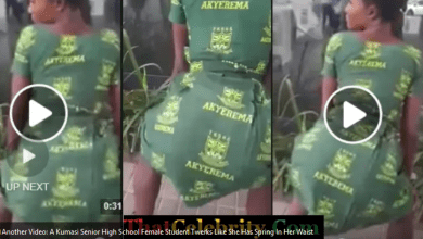Another Video: A Kumasi Senior High School Female Student Twerks Like She Has Spring In Her Waist