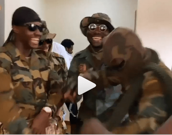 Military Men Take Over Medikal's House For Heavy Security At His Engagement Ceremony – Video