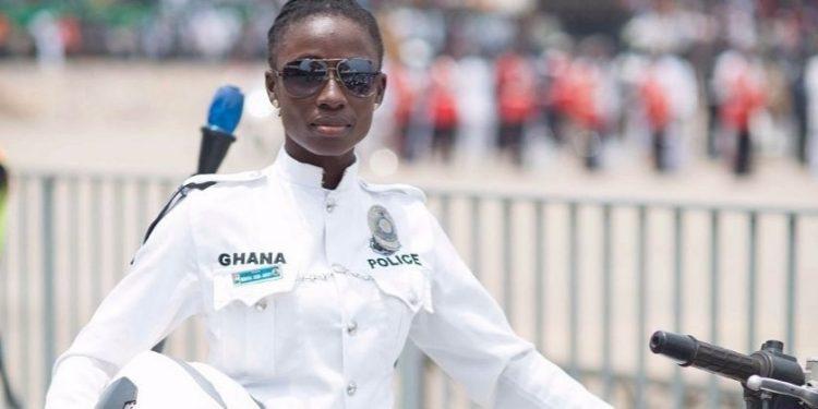 Ghanaian biker and police officer, Bernina Okoh-Akrofi