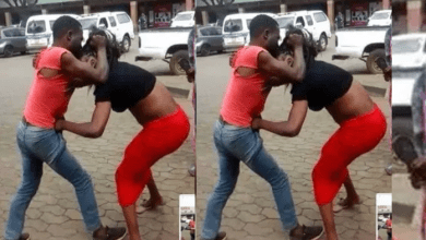 Jilted man publicly undresses ex-lover tearing her panties