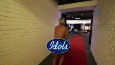 Somizi Mhlongo strips naked and runs around LIVE on Idols SA