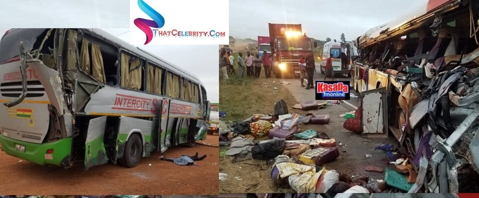 Cargo Truck Crash Two Buses At Kyekyewere