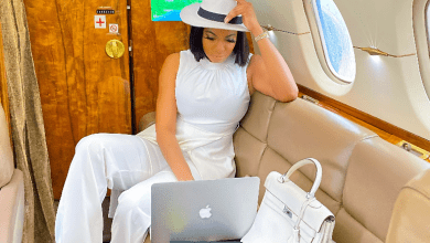 Chika Ike battles Regina Daniels in a private jet