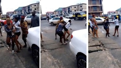 Girl runs mad after dropping from a guy's Benz car