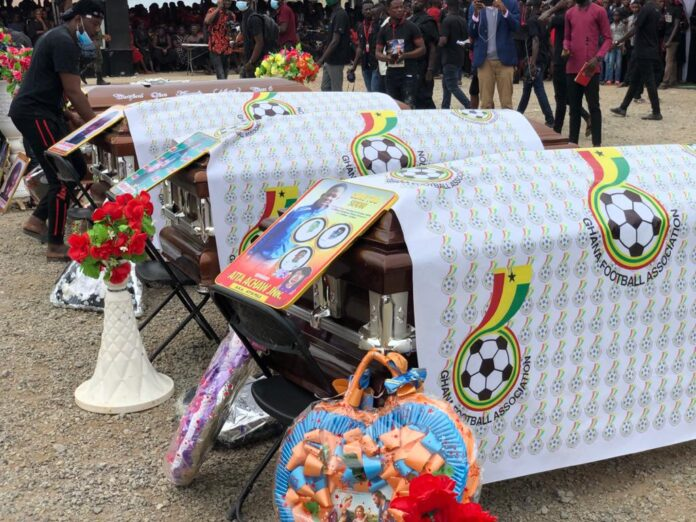 Tears flow in Town as Sports Fraternity bids farewell to 7 Dead Juvenile footballers