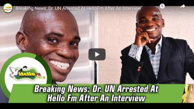 DR UN Finally Arrested