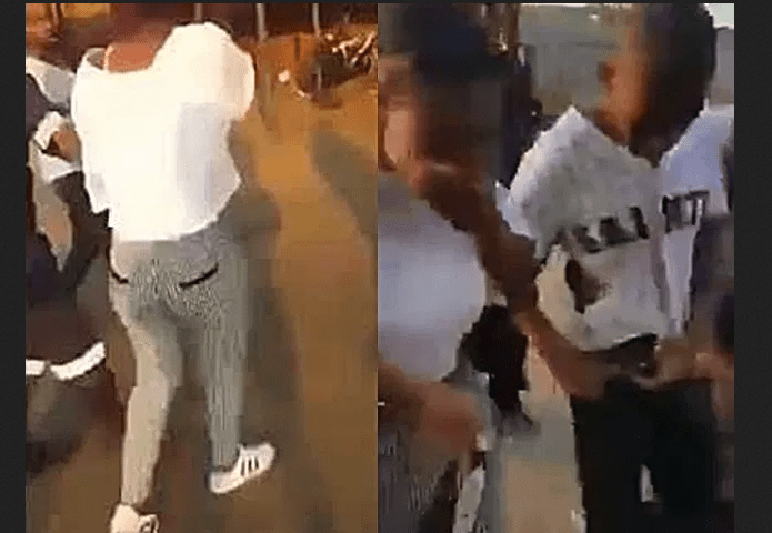 Teenagers caught having sex in a shopping mall toilet