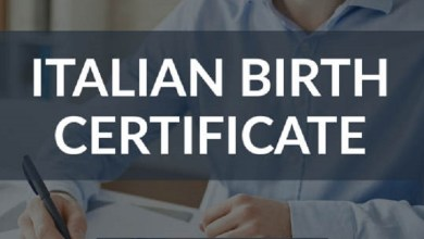 Italian Birth Certificate