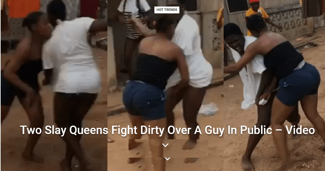 Two Slay Queens Fight Dirty Over A Guy In Public