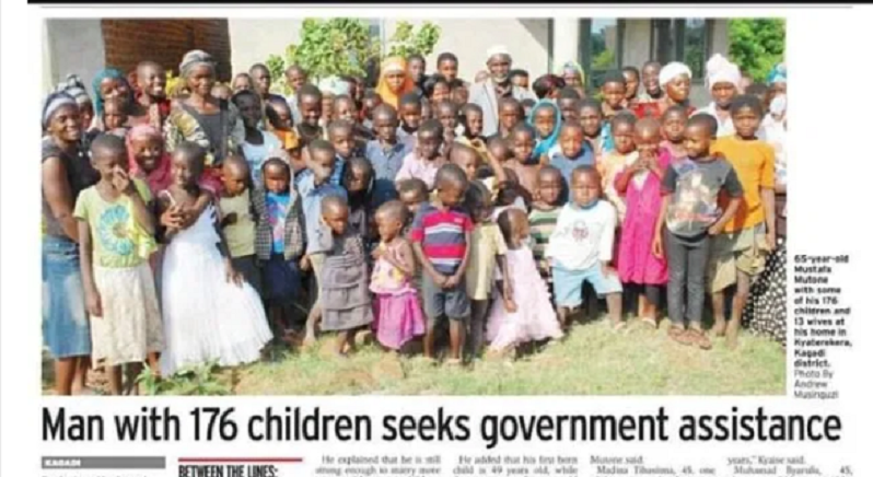 Man Who have 13 Wives,10 Concubine, Give Birth To 176 Children, Cry Out to Government For Assistance (details)