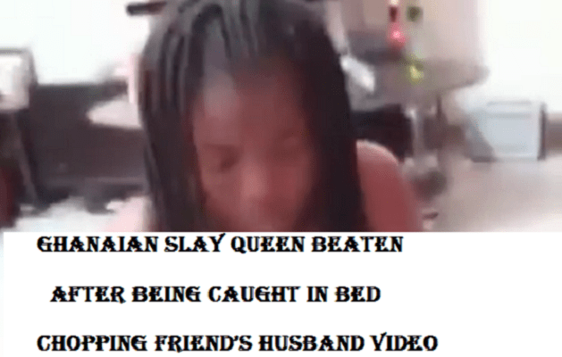 Ghanaian Slay Queen Beaten To Pulp After Being Caught In Bed With A Friend's Husband