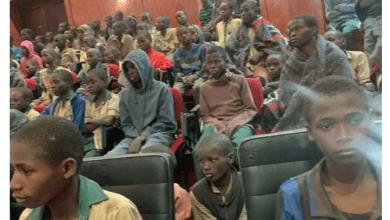 Released Kankara schoolboys arrive Katsina from Zamfara