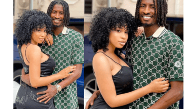 Lovely new photos of footballer Peter Olayinka and his fiancee, actress Yetunde Barnabas