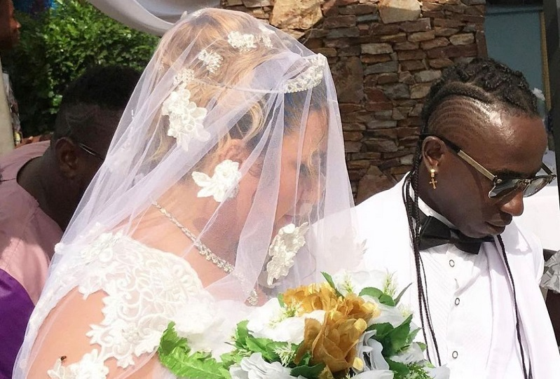 Photos and Videos from Patapaa and His German girlfriend, Liha Miller Wedding