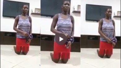 Lady interrogates her house-maid who allegedly poured insecticide into her drinking water