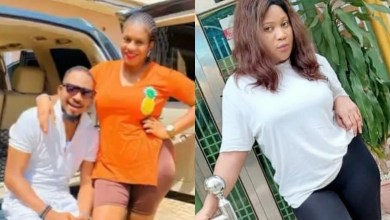 Actress Esther Nwachukwu calls out actor Junior Pope's wife, Jennifer for blocking her after she tattooed his initials on her body