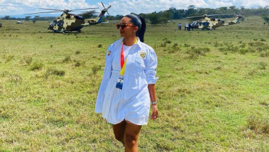 Are Senior Military officials flying slay queens in state choppers – Who exactly is this juicy lady? (PHOTO)