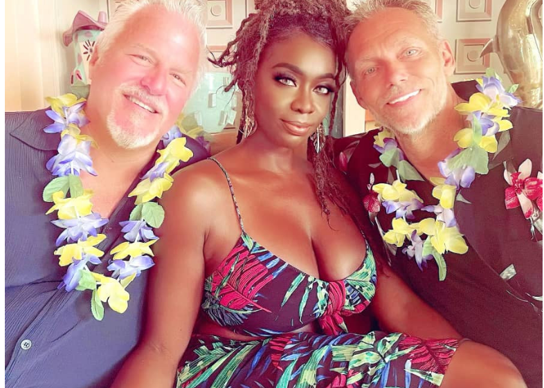 Married woman shares photo of herself posing with both her husband and Boyfriend