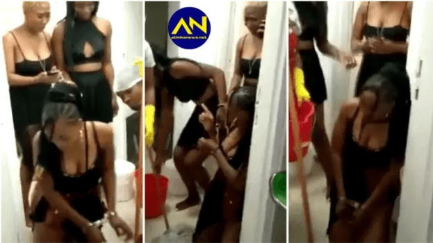 Slay Queens handcuffed and disgraced after a man left them in a hotel with huge bill [video]