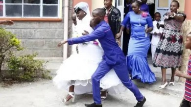 Woman Who Divorced A Year Ago Storms Church, Blocks Her Former Husband's Wedding With A New Lady