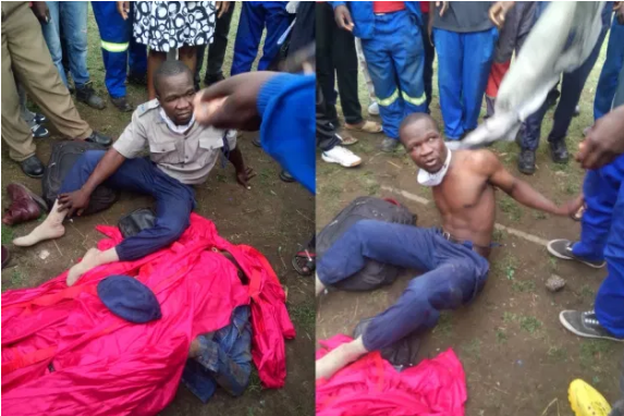 Man bashes a police officer and nearly kills him in a bloody fight