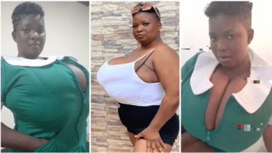 Top heavy' plus-size lady causes chaos as she flaunts her big milkshakes online -Watch