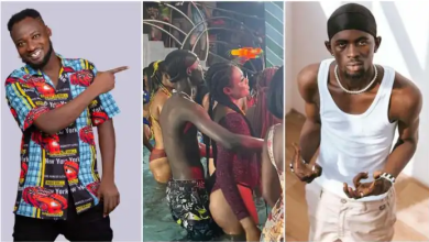 'Big buttocks will kill you' – Funny Face 'warns' Black Sherif after being captured grinding a ladies